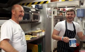Gary Oughton and Daniel Mays at The Low House