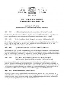 Low House LitFest Saturday Programme