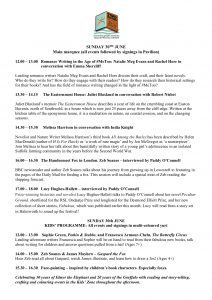 Low House LitFest Programme Sunday